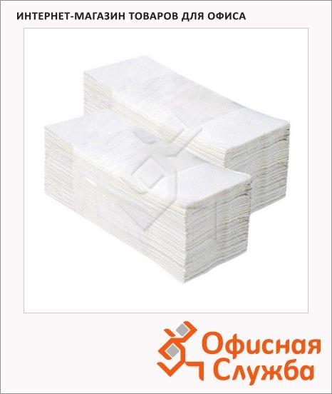 фото: Бумажные полотенца Vclean ПZ2.1.5 листовые, белые, 150 листов, 2 слоя, 21х23см