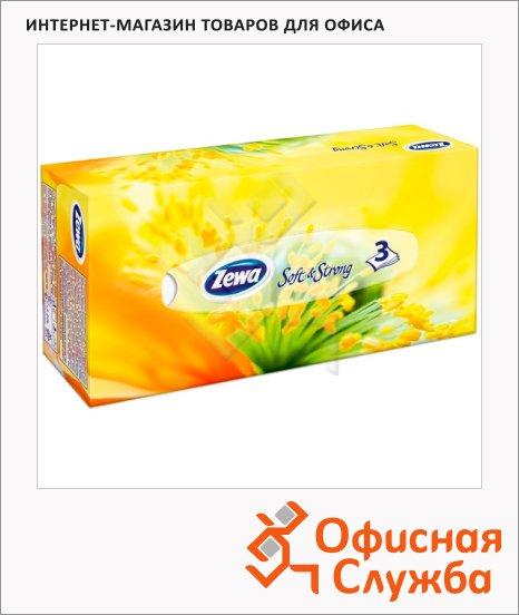 фото: Косметические салфетки Zewa Family 90шт 20х20.8см, 3 слоя, белые