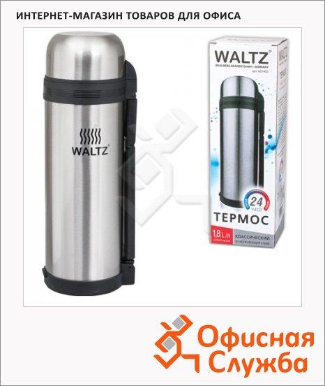 Термос с узким горлом Waltz, нержавеющая сталь, пластиковая ручка