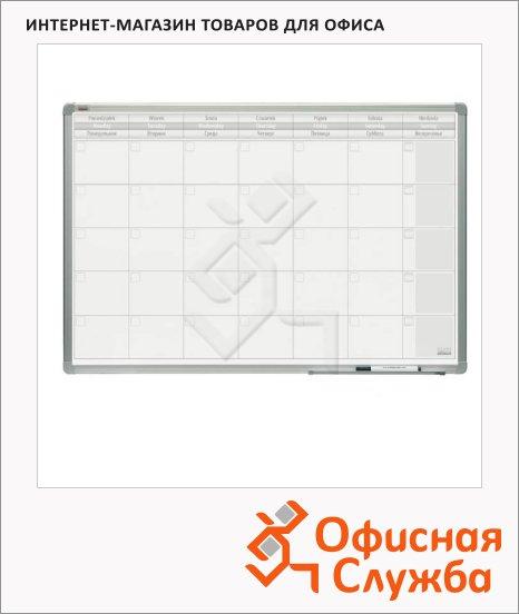 Доска планирования 2x3 TP 004 60х90см, белая, лаковая, магнитная маркерная, алюминиевая рама, на месяц