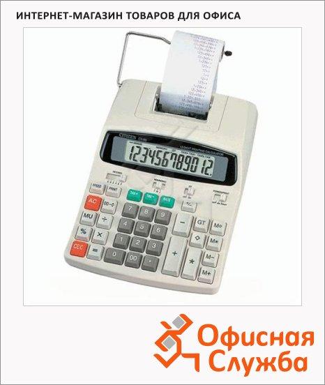 Калькулятор с печатающим устройством Citizen CX-80 двухцветная печать, 12 разрядов
