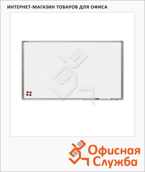 Доска магнитная маркерная 2x3 TMS 129 120x90см, белая, лаковая, алюминиевая рама, полочка