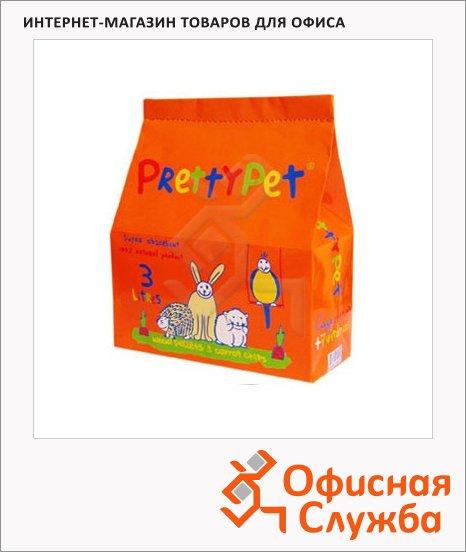 фото: Наполнитель для грызунов Prettycat С морковными чипсами 3л