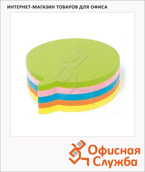 фото: Блок для записей с клейким краем Kores Диалог 5 цветов неон, круг, 250 листов