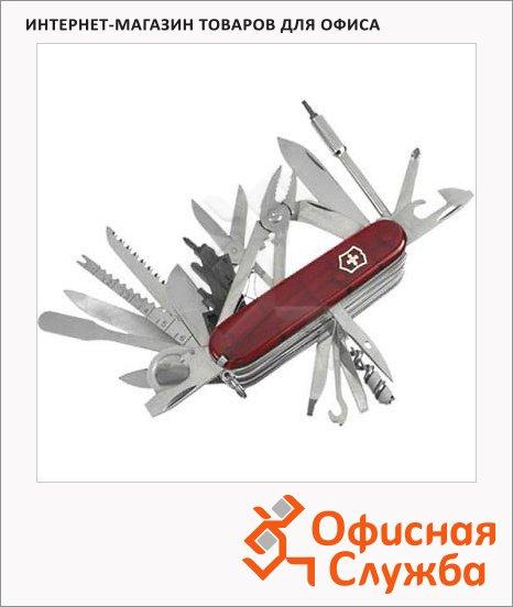 Нож офицерский 91мм Victorinox Swiss Champ 1.6795.XLT, 50 функций, 10 уровней, красный