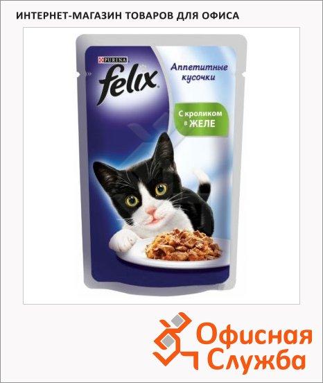 Влажный корм для кошек Felix Аппетитные кусочки, 85г