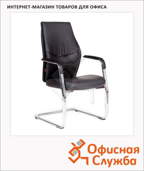 Кресло посетителя Chairman Vista V иск. кожа, на полозьях