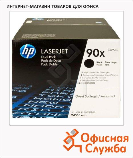 фото: Тонер-картридж Hp CE390XD черный повышенной емкости, 2шт/уп
