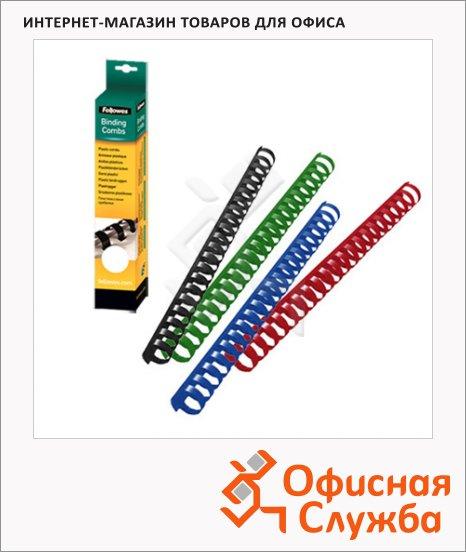 Пружины для переплета пластиковые Fellowes, на 210-240 листов, 25мм, 50шт, кольцо