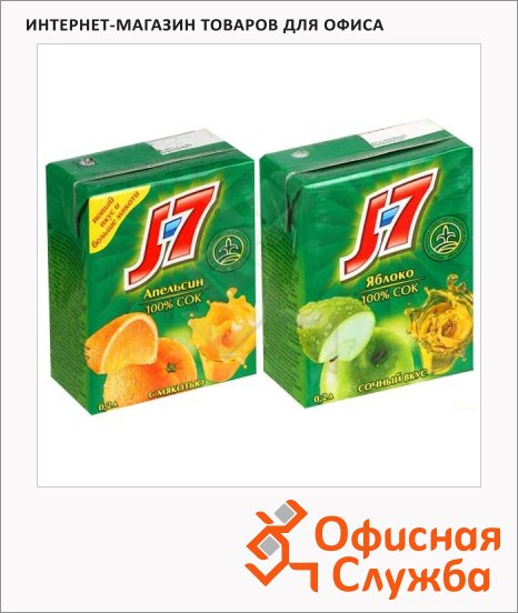 Сок J-7, 0.2л х 6шт