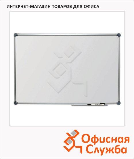 Доска магнитная маркерная Hebel Econom 6282084, лаковая, белая, алюминиевая рама