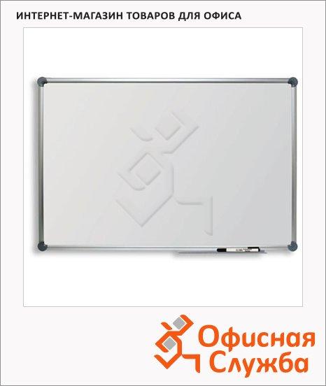 Доска магнитная маркерная Hebel 6301684, белая, лаковая, алюминиевая рама, полочка
