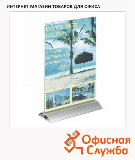 Табличка настольная прямая Durable А4, 210х290 мм, 8589-19