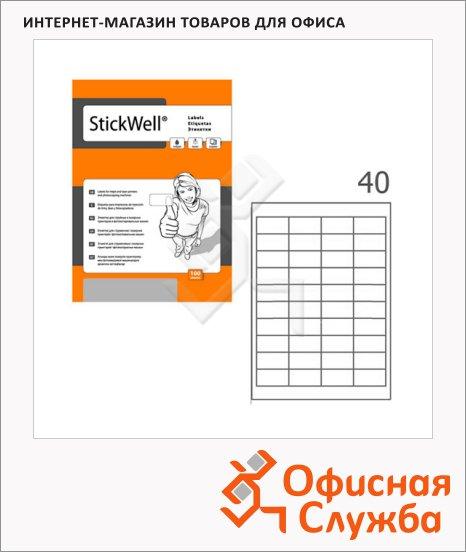 фото: Этикетки белые Stickwell 12625 48.5х25.4мм, 4000шт