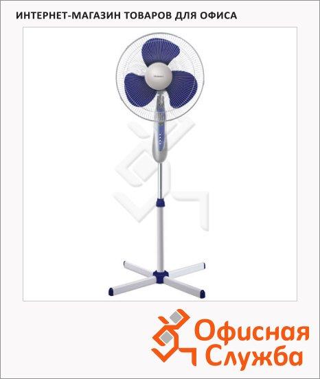фото: Вентилятор напольный RSF-1627RT бело-синий 40 Вт, d=40 см