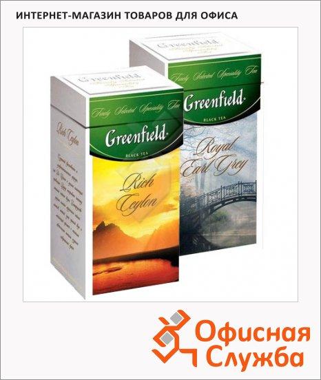 Чай Greenfield, черный, листовой, ж/б, 125 г