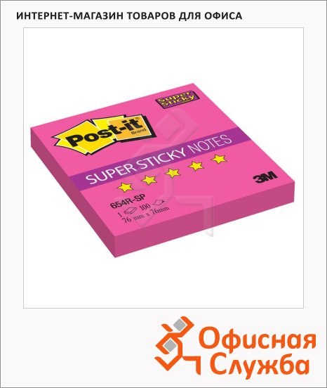 ���� ��� ������� � ������� ����� Post-It Super Sticky, 76�76��, 90 ������