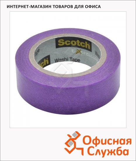 Клейкая лента декоративная Scotch Washi 15мм х10м