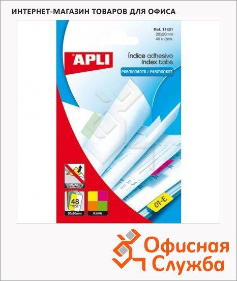Клейкие закладки пластиковые Apli