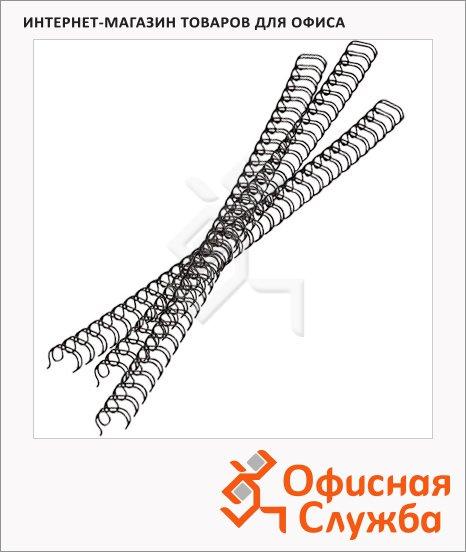 Пружины для переплета металлические Office Kit, на 10-60 листов, 9.5мм, 100шт