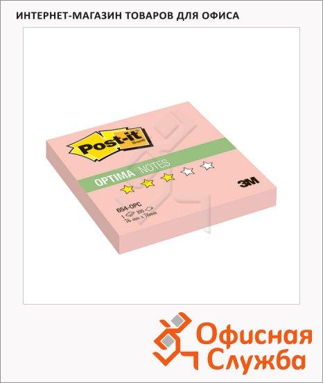 Блок для записей с клейким краем Post-It Optima, 76х76мм, 100 листов