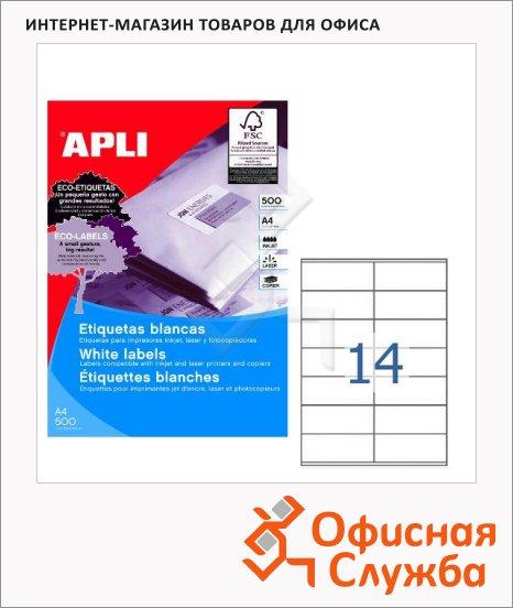 Этикетки белые Apli 01795 105x42.4мм, 1400шт