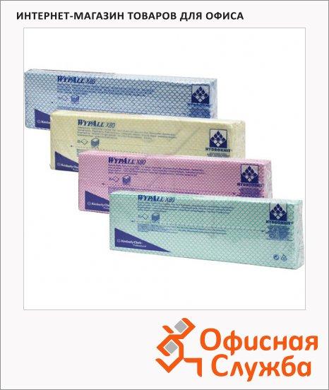 Протирочные салфетки Kimberly-Clark WypAll Х80, листовые, 25шт, 1 слой