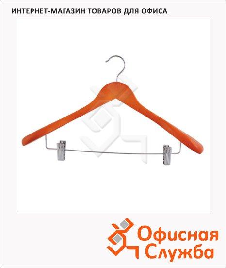 Плечики для одежды WHW006 44.5см, с клипсами для брюк, вишня