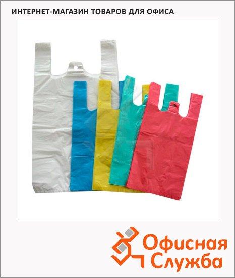 Пакет Майка ПНД 38х20х68см, 25мкм, 100 шт/уп, цветной