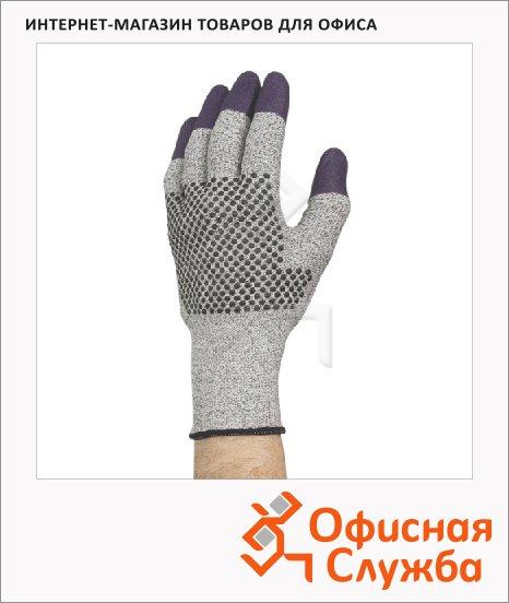 Перчатки от порезов Kimberly-Clark Jackson Safety Purple Nitrile G60, серые/фиолет