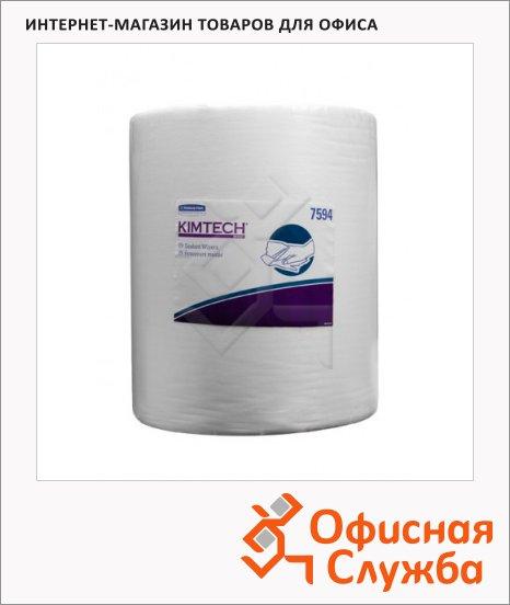 Протирочные салфетки Kimberly-Clark Kimtech 7594, в рулоне, 500шт, 1 слой, белые