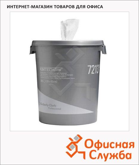 Ведро-диспенсер c протирочными салфетками Kimberly-Clark Kimtech 7213, 300шт, 1 слой, белый