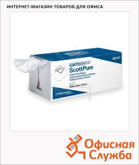 Протирочные салфетки Kimberly-Clark Kimtech 6151, 50шт, 1 слой, белые