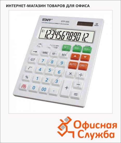 Калькулятор настольный Staff STF-555, 12 разрядов