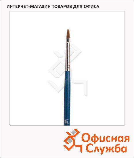 Кисть для рисования из синтетики Байкал, плоская, длинная ручка
