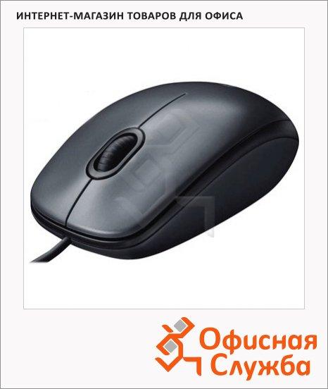 Мышь проводная оптическая USB Logitech