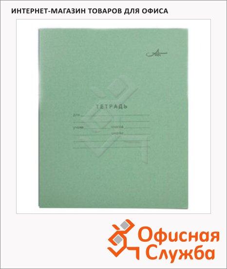 Тетрадь школьная Архбум зеленая, А5, 12 листов, на скрепке, бумага