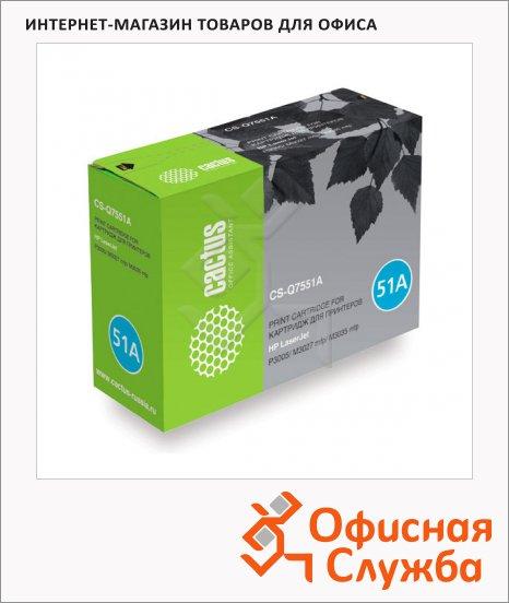 Тонер-картридж Cactus CS-Q7551A, черный, 6500 стр