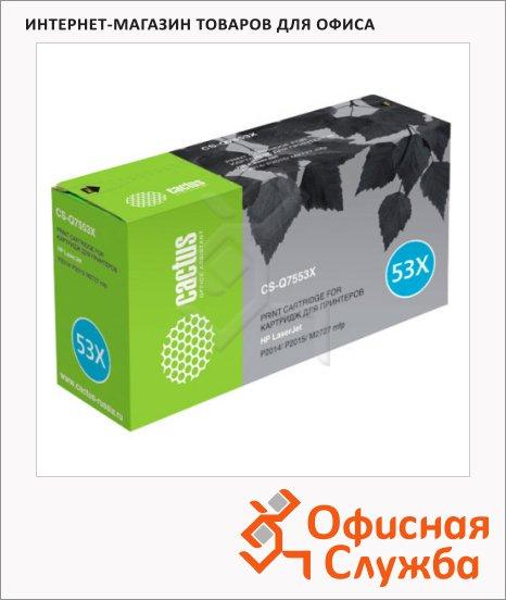 Тонер-картридж Cactus CS-Q7553X, черный, 7000 стр