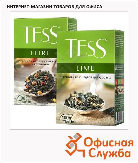 Чай Tess, зеленый, листовой, 100 г