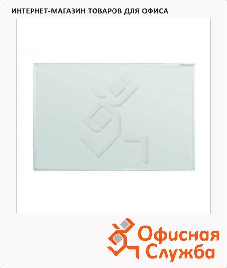 Доска магнитная маркерная Magnetoplan 1240500, белая, эмалевая, системная рама ferroscript, полочка
