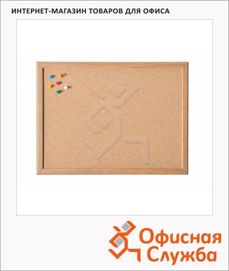 Доска пробковая Magnetoplan 121923, коричневая, деревянная рама
