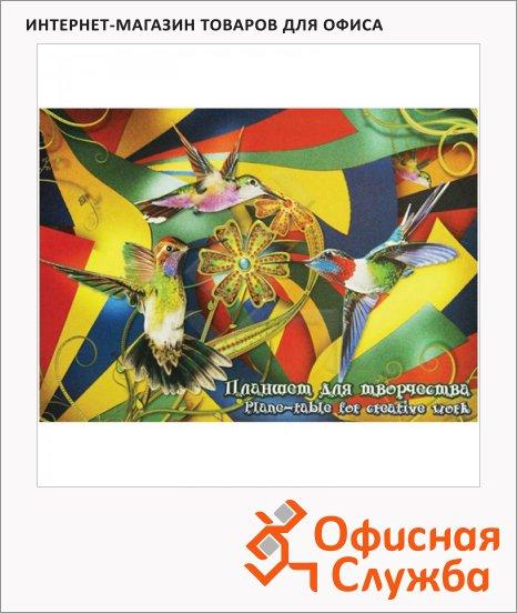 Папка для рисования Лилия Холдинг Калейдоскоп, 200г/м2, 20 листов, тонированная, 4 цвета