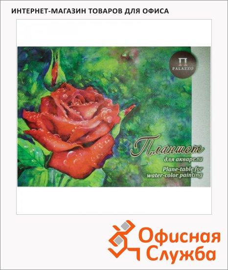 Папка для акварели Palazzo Алая роза, 20 листов, тиснение скорлупа