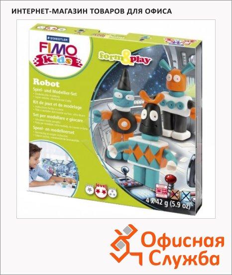 фото: Набор для лепки из полимерной глины Fimo Kids create&play Робот 4 цвета x42г