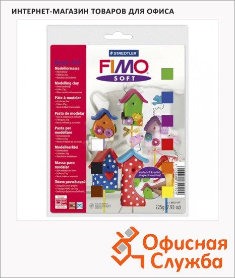 Набор полимерной глины Fimo Soft 9 цветов по 25г