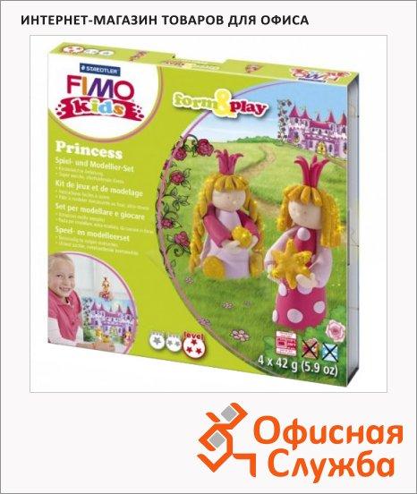 фото: Набор для лепки из полимерной глины Fimo Kids create&play Принцесса 4 цвета x42г