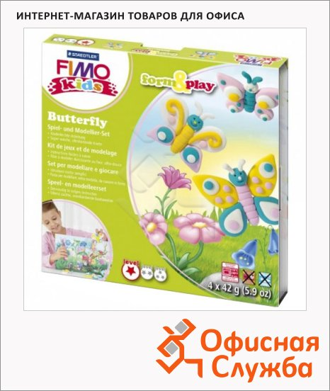 ����� ��� ����� �� ���������� ����� Fimo Kids create&play �������, 4 ����� x42�