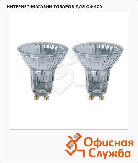 Лампа галогенная Osram, GU10, зеркальная, 2шт/уп