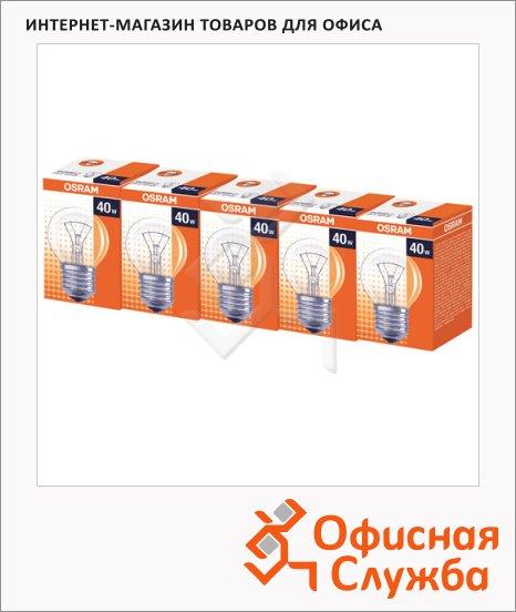 Лампа накаливания Osram 40Вт, E27, стандартная прозрачная, 5шт/уп